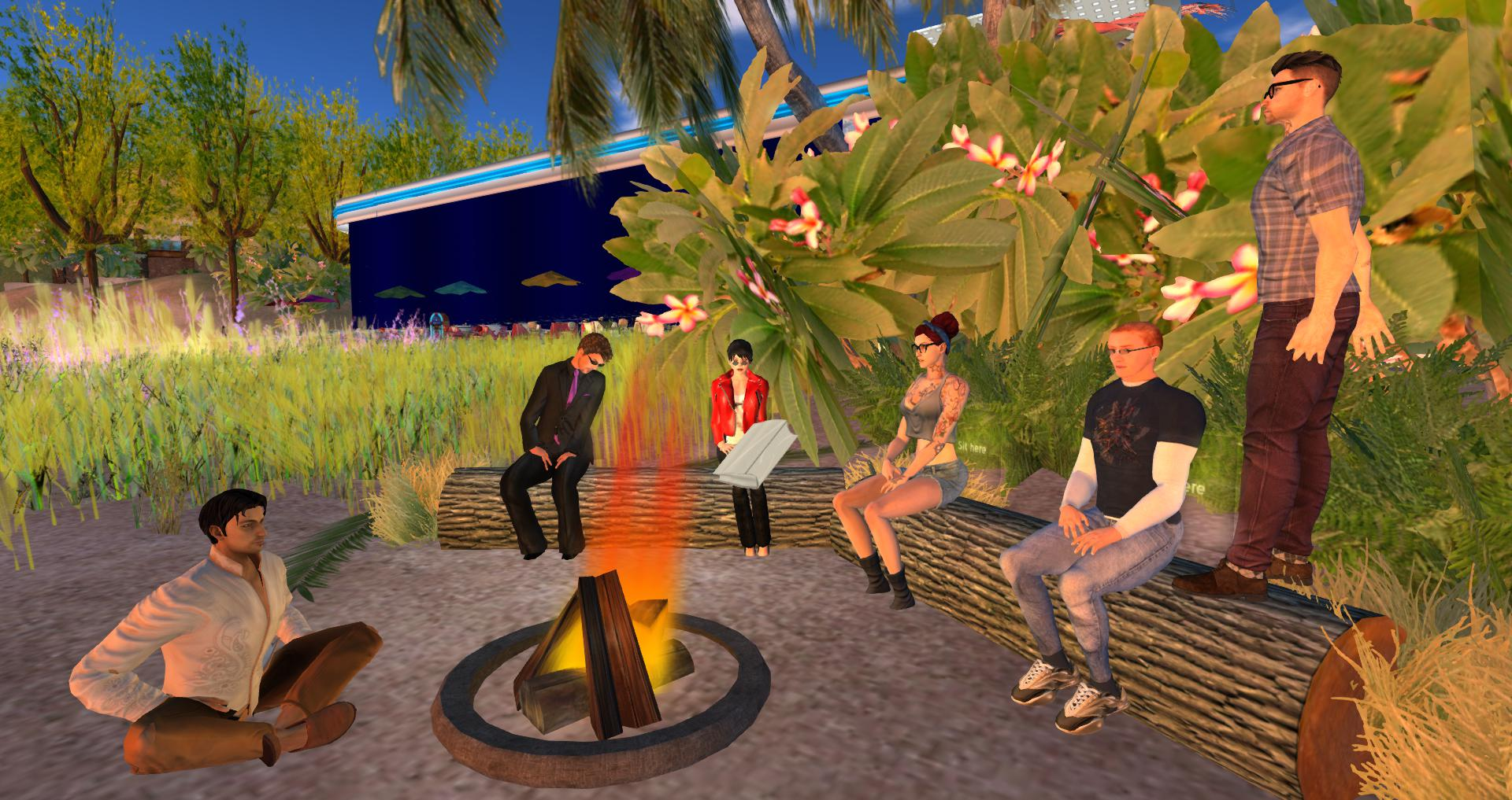 Group Pic around the campfire